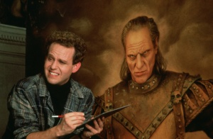 "Peter MacNicol with a painting of Vigo the Carpathian. One of many intersting elements of the first film that is ""borrowed"" but not wated"