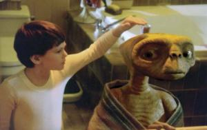 A deleted scene where Elliot examines E.T. more. Restored in the 2002 cut with a CGI model, it was placed on the Blu-ray as a bonus feature and rightfully so