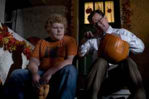Dylan Baker tells a bully the traditions of Halloween unbeknownst of what lurks in the guy's candy bowl
