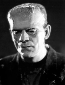 Karloff's make up in the Bride of Frankenstein that showed more compared to the original
