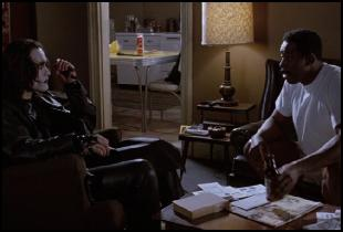 "Ernie Hudson as Sargent Albrecht as he tries to make sense of the Crow's ploy in one of the more ""lighter"" scenes"