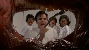 Steve Martin as the dentist from hell who thrills when he drills your bicuspids!
