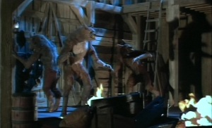 A still from the deleted stop-motion effects by David W. Allen. As you can see, it really seems out of place with Rob Bottin's effects (see above pic)