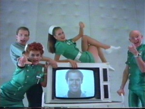 The cast of Shock Treatment with some familiar faces