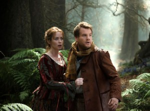"James Corden and Emily Blunt are set out to reverse a curse as they run into many Grimm Fairy Tale characters as they go ""Into The Woods"""