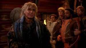 Khan returns from the famous episode Space Seed in revenge for Kirk. Beautifully played by Ricardo Montalban