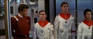 Kirk meets Midshipman Preston in the engine room in a cut scene restored for the Director's Edition. It's here we learn he is Scotty's nephew which plays  a big part later on