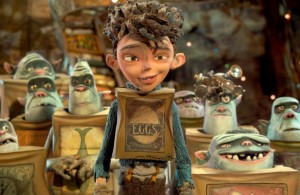 Eggs and his adoptive family of Minions...I mean, Boxtrolls even if he is human