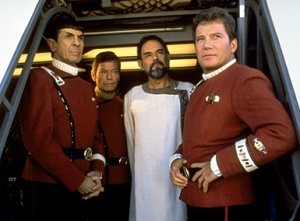 The Enterprise trio with Sybok who hijacks the ship along with the sanity of this movie