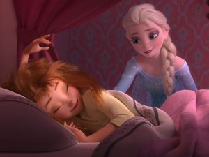 "In a strange twist, ""Frozen Fever"" is duller and uneven companion that makes you wish it was a bonus feature on a DVD than a theatrical short."