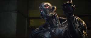 James Spader is the menacing Ultron who plans to protect the human race by destroying it....odd