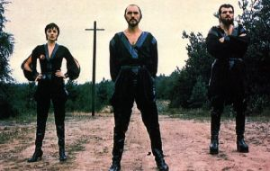 Terence Stamp as his famous role as the ruthless General Zod along with his accomplices played by Sarah Douglas and Jack O'Halloran
