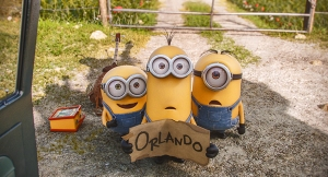 Kevin, Stuart and Bob hit the road in the all new Minion movie