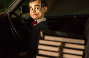 Villian of the movie, Slappy the dummy (also voiced by Jack Black) as he plans to unleash the monsters in surprisingly convincing effects showing how great puppetry can be