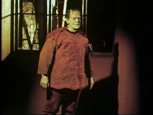 Home movies of Boris Karloff as the Monster in a rare color test for the movie.