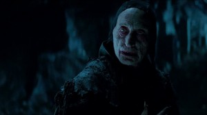 At least the effects are decent seen here with the make-up work on the vampire that transforms Vlad into a creature of the night