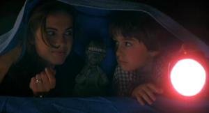 Nancy her son Dylan (Miko Hughes) spend some quality time with Rexy