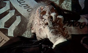 One of the many restored shots of Dracula decaying under the sunlight. These shots when missing until 2012 saw the release of a new cut with the missing bits restored...but only available in the UK.....lucky blighters