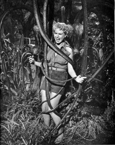 Shirley Patterson scream queening during her big scene with the carnivorous plant. And yet a few years later, Roger Corman would make a more convincing one